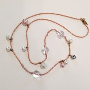 J Crew Metallic Rope Necklace